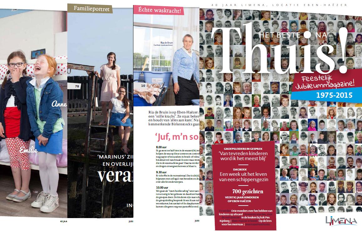 Totaalproductie: Jubileummagazine schippersinternaat Eben-Haëzer